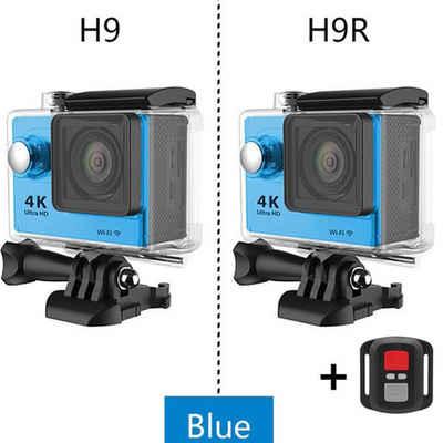 "autolock »Original H9/H9R Reisekamera 1080p/60fps 20MP WiFi 2.0"" Ultra HD 4K Mini Helm Wasserdichte Cam DV Life Recording Kameras« Objektivkamera"