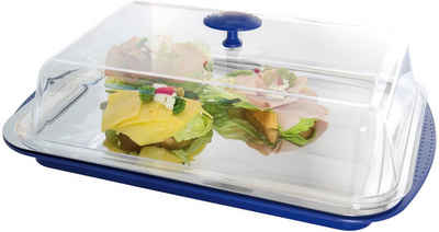 APS Tortenplatte, Edelstahl, Kunststoff, Kühlfunktion durch 2 Kühlakkus