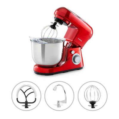 Klarstein Küchenmaschine Bella Pico 2G Küchenmaschine 1200W 1,6PS 6 Stufen 5 Liter rot, 1200 W, 5 l Schüssel