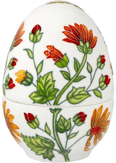 Goebel Osterei »Farbenfrohe Pflanzenwelt« (1 Stück), Ei-Dose aus Porzellan, Höhe ca. 12,5 cm