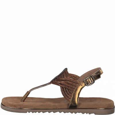 MARCO TOZZI »MARCO TOZZI Damen Zehentrenner Sandale 2-28128-26-938 bronce comb« Sandale