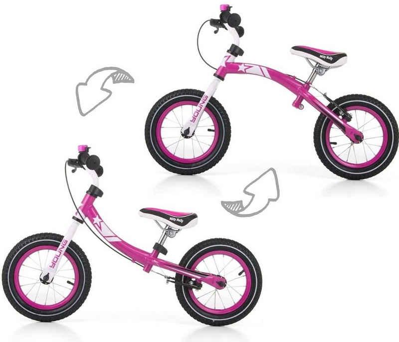 LeNoSa Laufrad »12 Zoll Laufrad für Mädchen • Drehbarer Stahl-Rahmen • gelagerte Luftreifen • Handbremse • Alter 3-6«