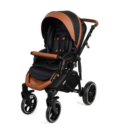 Clamaro Kombi-Kinderwagen, Kombikinderwagen Creativo als Set 3in1 inkl. babyschale, Babywanne, Sportaufsatz mit Gel Reifen