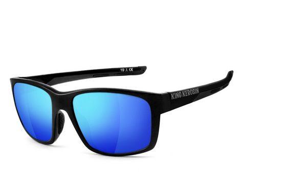 KingKerosin Sonnenbrille »KK231 - laser blue« rutschfeste Nasenauflagen und Bügelenden