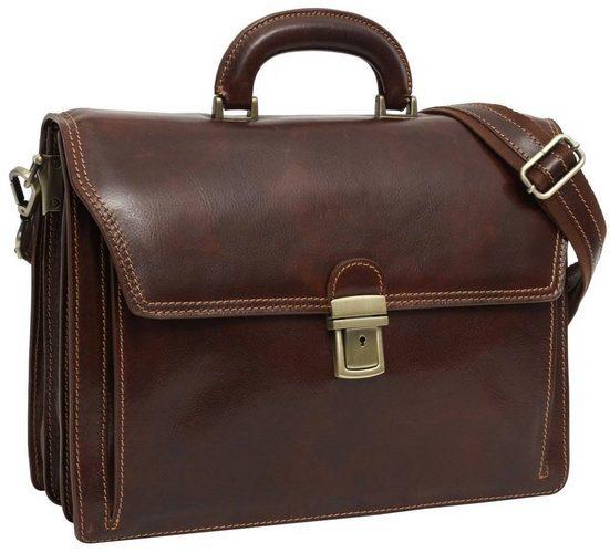 Gusti Leder Aktentasche »Clemens« (1-tlg), Arbeitstasche Bürotasche Businesstasche Damen Herren