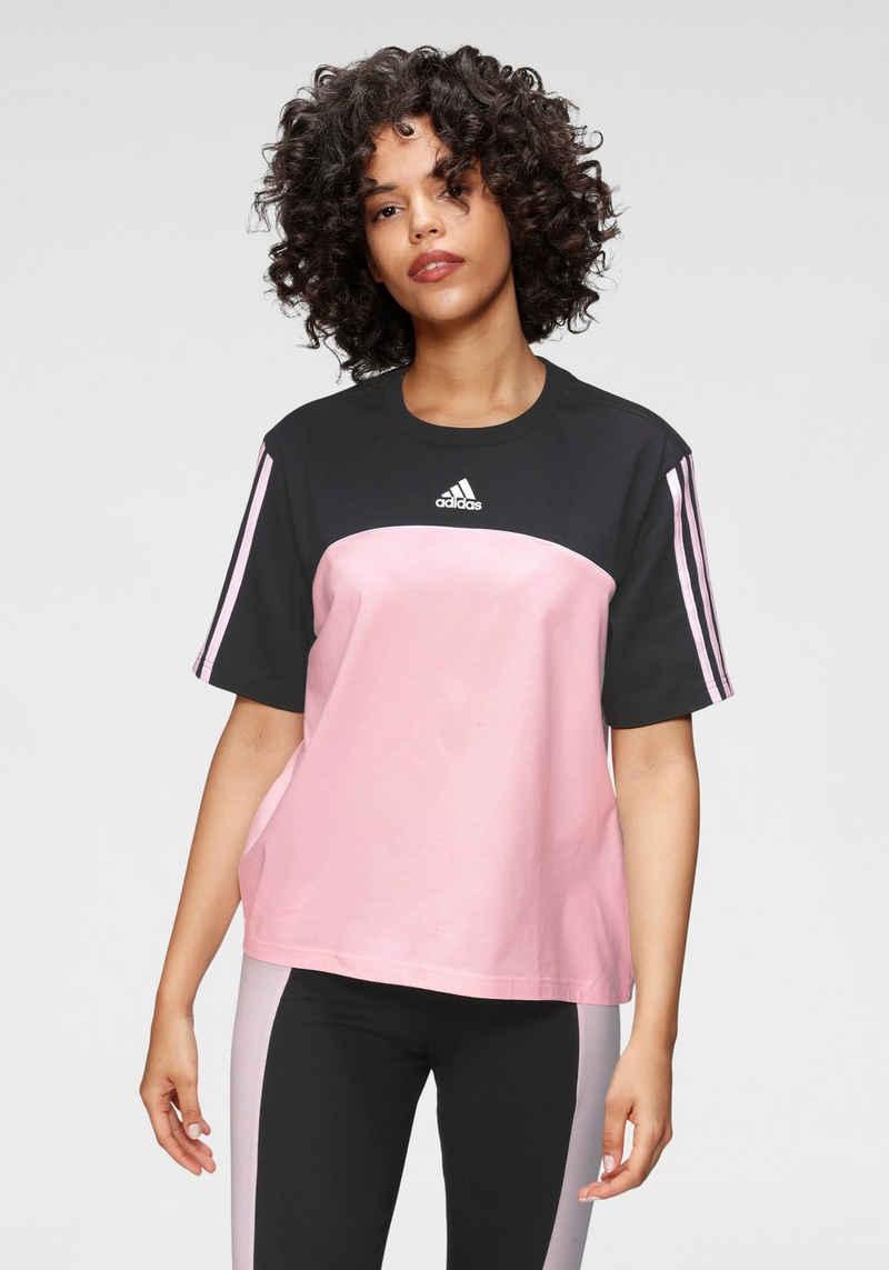 adidas Performance T-Shirt »COLORBLOCK T SPORT ESSENTIALS T-SHIRT«