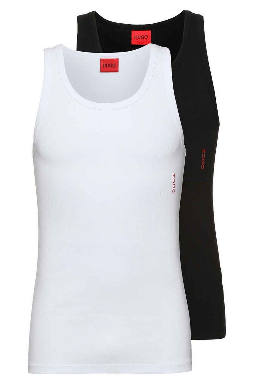 HUGO Unterhemd »Herren Tanktop, 2er Pack - Rundhals, Logo-Print,«