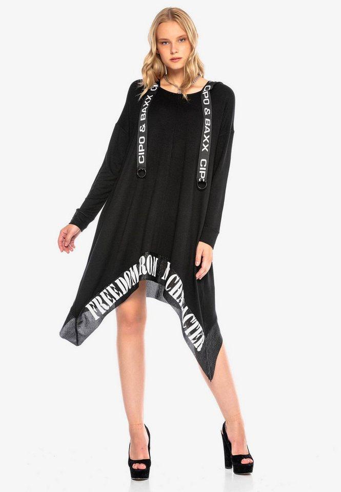 cipo & baxx -  Jerseykleid mit asymmetrischem Schnitt