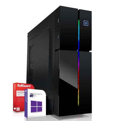 SYSTEMTREFF Mini Edition 40080 Mini-PC (Intel Core i3 10100 Intel Core i3 10100, Intel UHD 630 Grafik DX12 und 4K 2 GB, 8 GB RAM, 120 GB SSD)