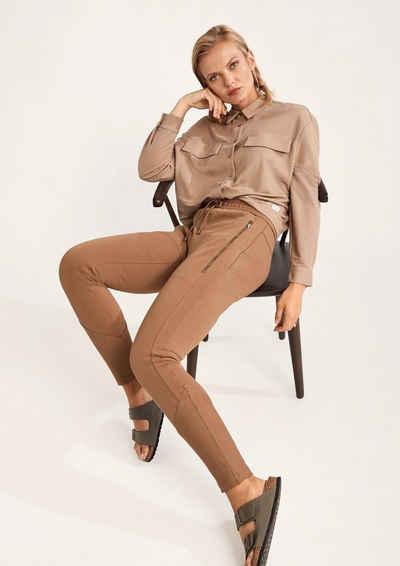 comma casual identity Stoffhose »Slim: Jogpants in Twilloptik« (1-tlg) Durchzugkordel