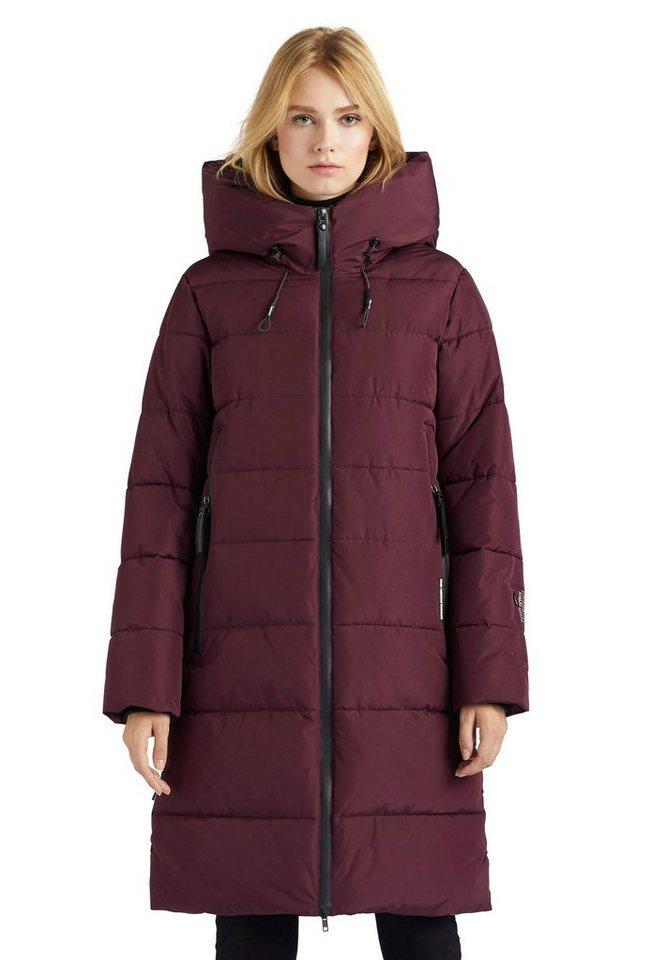 khujo -  Steppjacke »JILIAS« stylischer Damen Winter Steppmantel mit Kapuze