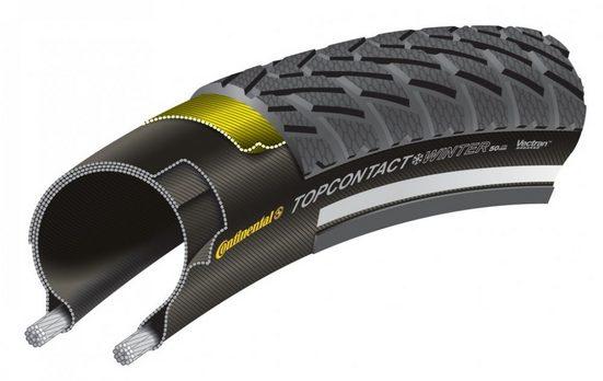 CONTINENTAL Fahrradreifen »Reifen Conti TopContact WinterII Prem.fb 28x1 3/8x«
