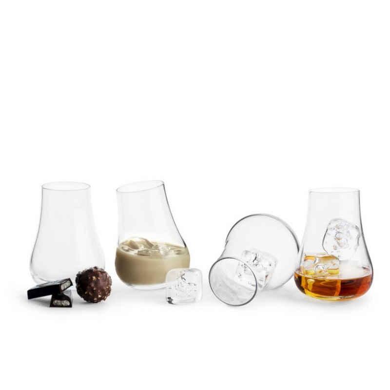 sagaform Digestifglas »Digestif-Glas 4er-Set«, Mundgeblasenes Glas, Durchmesser Öffnung 4.5 cm