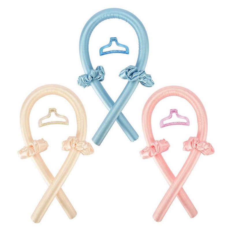 Vodool Lockenwickler Heatless Curling Rod Stirnband, No Heat Curls Lockenwickler Set für langes Haar, Multifunktions Austauschbare Lockenwickler Kit