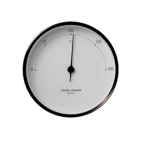 GEORG JENSEN Georg Jensen Thermometer HENNING KOPPEL 10cm schwarz-weiß