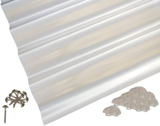 PALRAM Set: Wellplatte »Suntuf«, 1,4 mm Struktur, 6 Stück á 90x200 cm