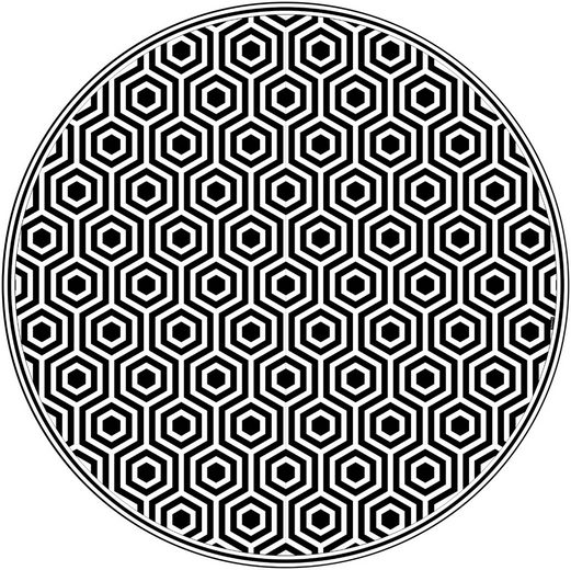 Vinylteppich »buddy QM«, MySpotti, rund, Höhe 0 mm, wasserfest und statisch haftend