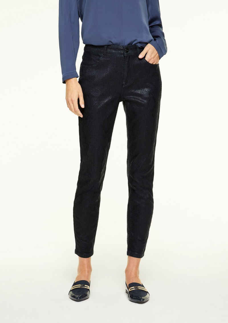 Comma 7/8-Jeans »Slim Fit: Jeans in Snake-Optik«