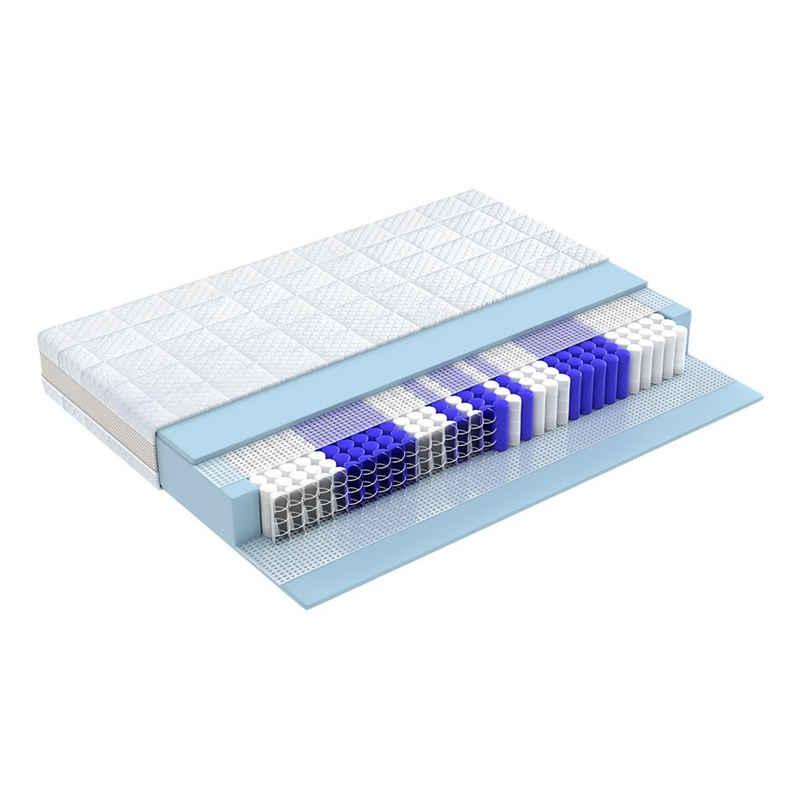 Taschenfederkernmatratze »HAMBURG DE LUXE, 9 Zonen, Klimaband«, Matratzen Perfekt, 23 cm hoch, 602 Federn, Premium Taschenfederkernmatratze für guten und gesunden Schlaf