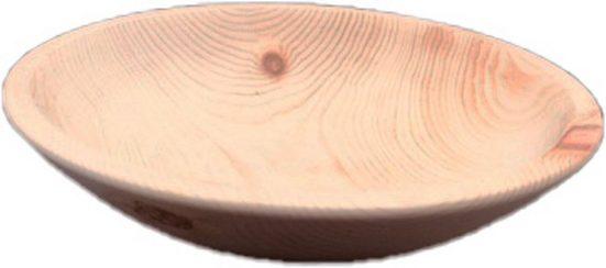 Pezzo D'oro Brotteller »Zirbenholzschale für Obst/Brot,100 % Zirbenholz,handgedrechselt 33cm Durchmesser«