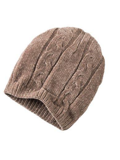 Classic Set: Schal und Mütze mit Zopfmuster