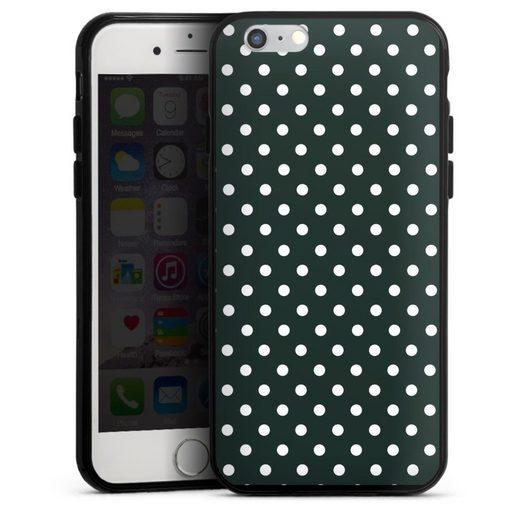 DeinDesign Handyhülle »Polka Dots - schwarz und weiß« Apple iPhone 6s, Hülle Punkte Retro Polka Dots