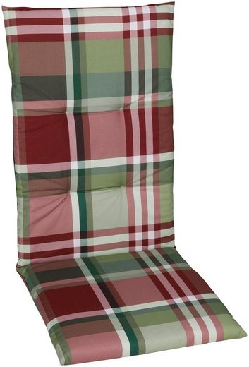GO-DE Sesselauflage, (Set, 2 St), 120 x 50 cm, hoch