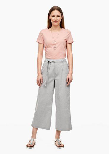 Q/S designed by 7/8-Hose »Regular Fit: Culotte aus Leinenmix« (1-tlg)