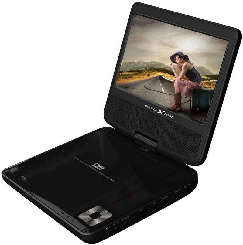Reflexion »DVD7002« Portabler DVD-Player (17, 8 cm (7 Zoll), Fernbedienung, LCD-Bildschirm 180 Grad, 12V Adapter, Kopfhörerausgang, Netzteil)