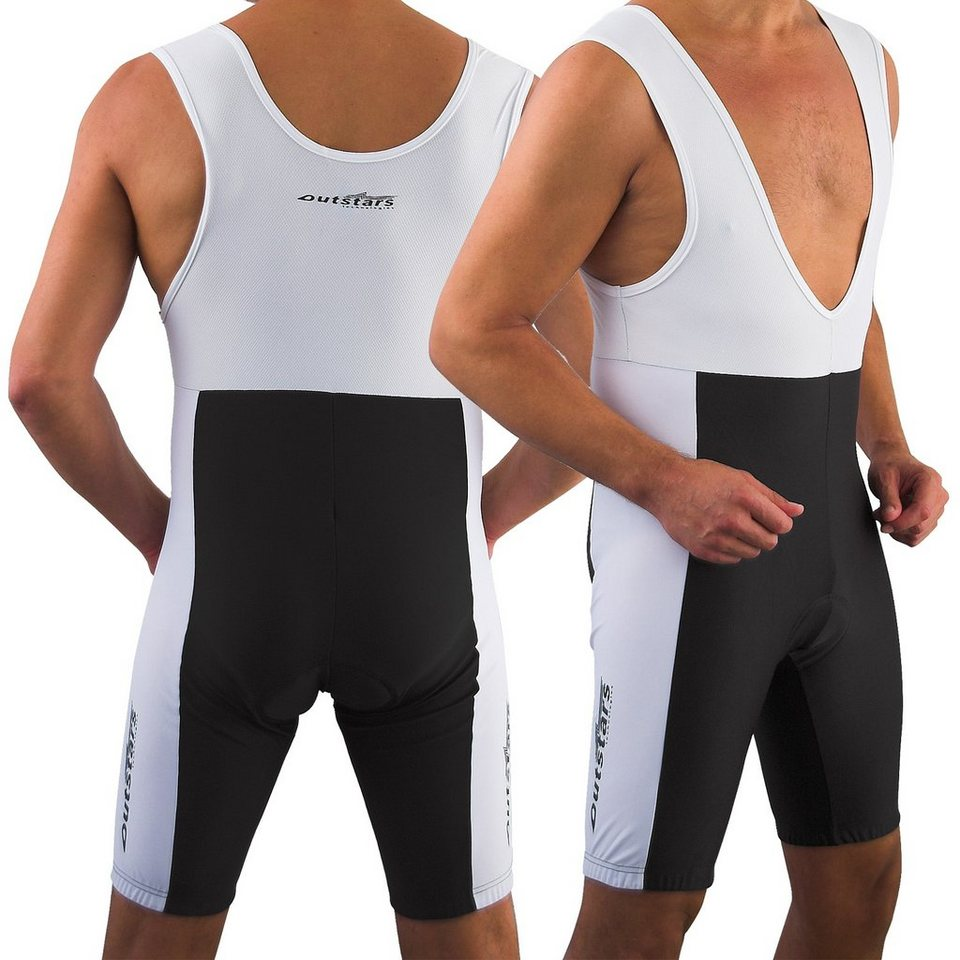 Fahrradträgerhose »Outstars« in schwarz/weiß