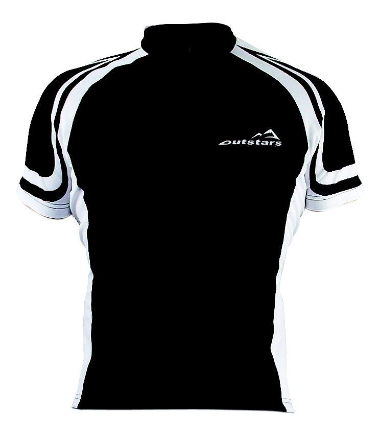 Fahrradtrikot »Outstars« in schwarz/weiß
