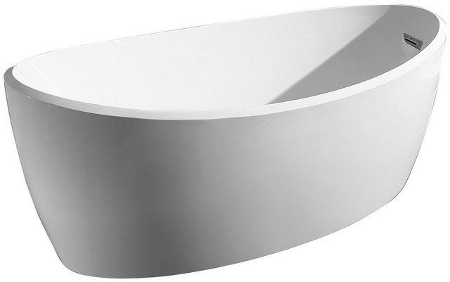 Badewannen und Whirlpools - welltime Badewanne »Moon«, (4 tlg), B T 170 85 cm, freistehende Wanne  - Onlineshop OTTO