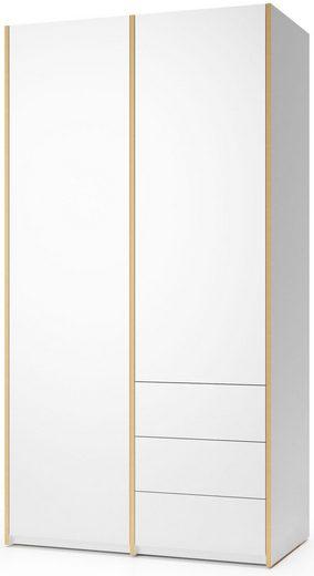 Müller SMALL LIVING Kleiderschrank »Modular Plus Variante 2« Inklusive 3 kleiner Schubladen unten rechts