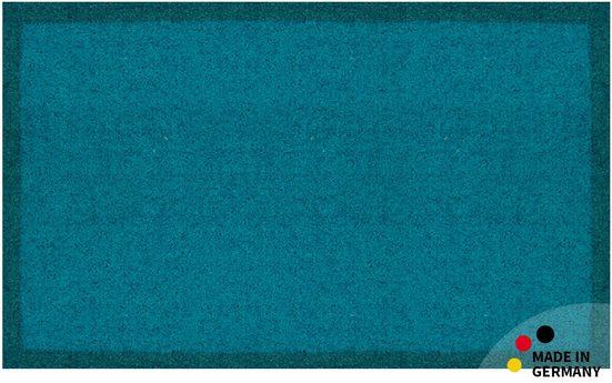 Fußmatte »Schmutzfangmatte 60x100 cm türkis«, matches21 HOME & HOBBY, rechteckig, Höhe 4 mm