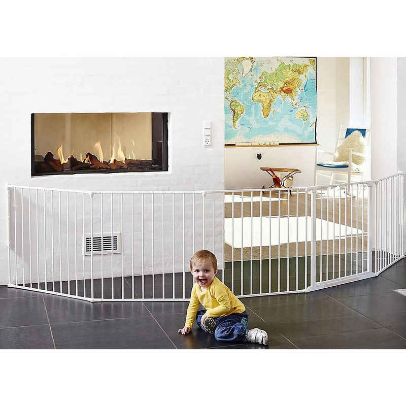 BABY-DAN Laufgitter »Konfigurationsgitter Flex XXL, 90 - 350 cm, weiß«