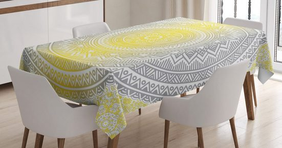 Abakuhaus Tischdecke »Personalisiert Farbfest Waschbar Für den Außen Bereich geeignet Klare Farben«, Mandala Pale Farbige Ombre