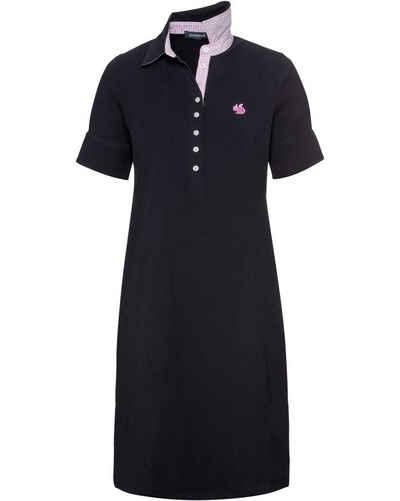 Highmoor Shirtkleid »Kurzarm-Polokleid mit Vichykaro«