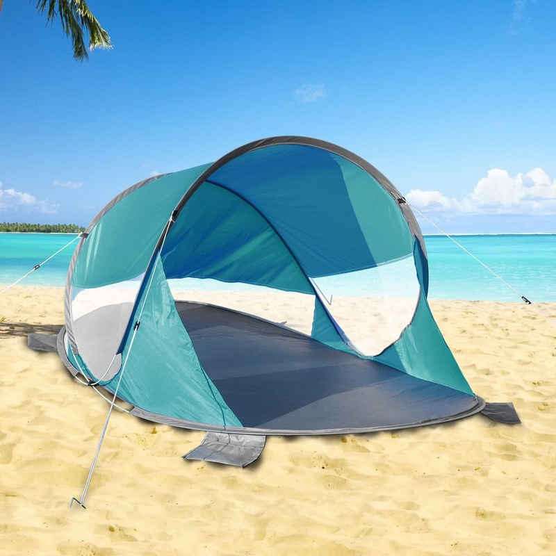 bonsport Strandmuschel »Pop Up Strandmuschel, Maße: 200 x 120 x 90 cm«