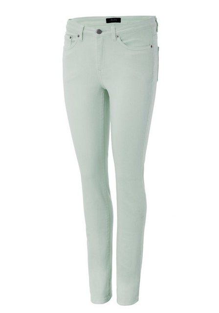 Hosen - Aniston CASUAL Slim fit Jeans regular waist › grün  - Onlineshop OTTO