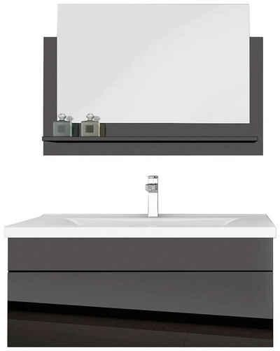 HOME DELUXE Badmöbel-Set »Wangerooge BIG M«, (3-St), mit Push-To-Open-Technik, edle Hochglanzoptik