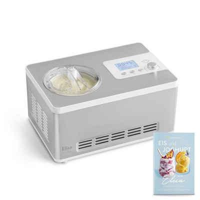 Springlane Eismaschine & Joghurtbereiter mit Kompressor, inkl. Rezeptheft, 2 l, 180 W, Elisa