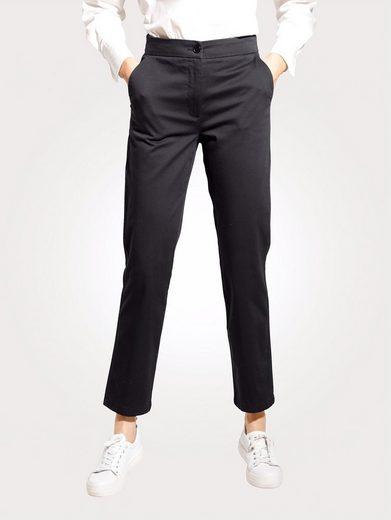Mona 5-Pocket-Hose mit teilelastischem Streifenbund