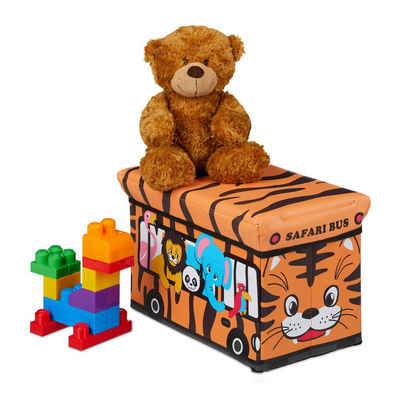 relaxdays Spielzeugtruhe »Spielzeugkiste faltbar mit Deckel«