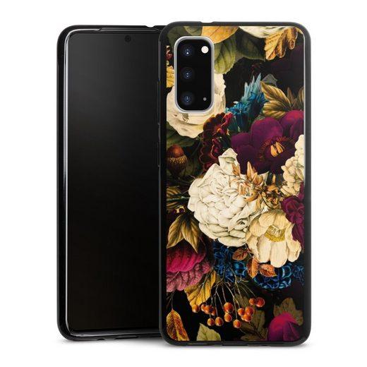 DeinDesign Handyhülle »Dark Vintage Flowers« Samsung Galaxy S20, Hülle Vintage Blumen Muster