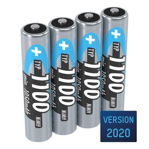ANSMANN® »Akku AAA 1100mAh Micro NiMH 1,2V – 1000x wiederaufladbar (4 Stück)« Akku 1100 mAh (1.2 V)