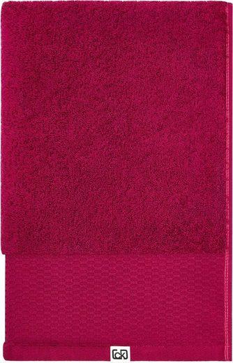 Calvin Klein home Waschlappen »Riverstone« (3-tlg), aus Bio Baumwolle