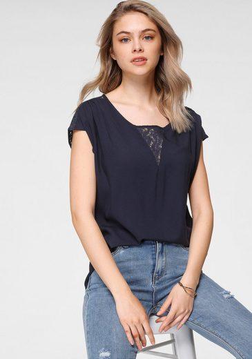 HaILY'S Shirtbluse »AMELY« mit Spitzendetails