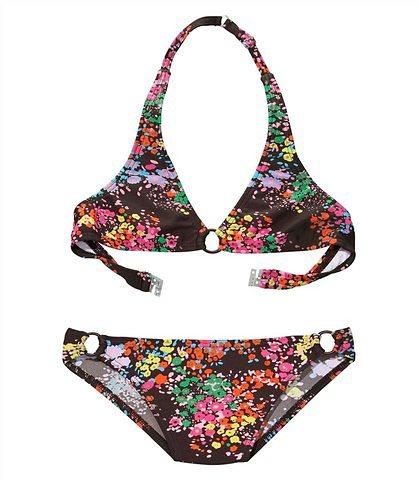 Triangel-Bikini, s.Oliver RED LABEL Beachwear in braun bedruckt