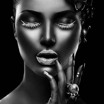 Leonique Acrylglasbild »Gesicht«