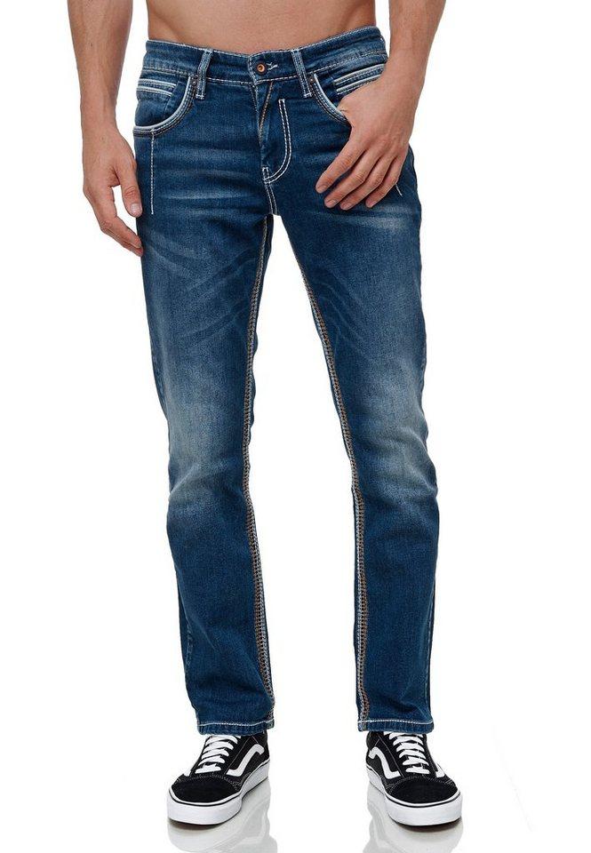 rusty neal -  Straight-Jeans »NEW YORK 49« in modischem Design